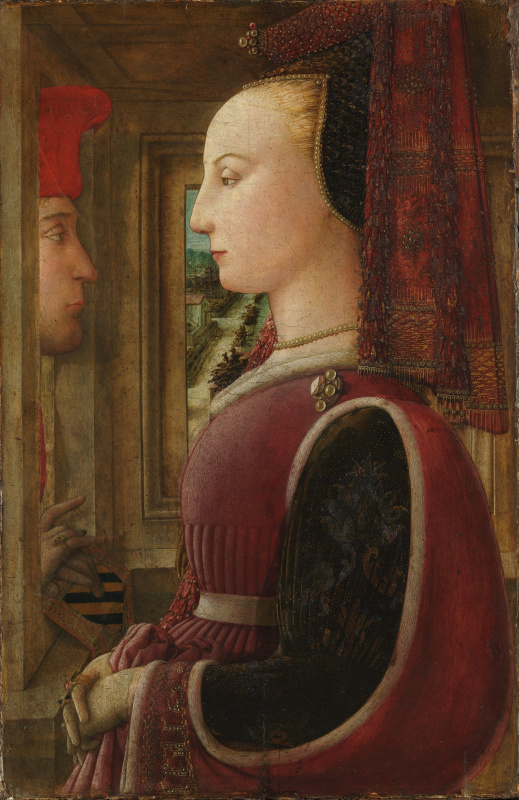 Fra Filippo Lippi. Double portrait (portrait of the men and women at the window)
