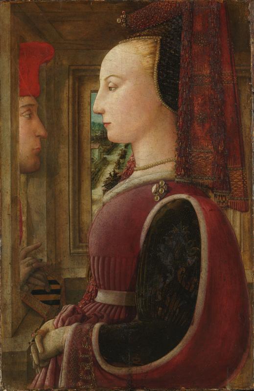 Фра Филиппо Липпи. Двойной портрет (Портрет мужчины и женщины у окна)