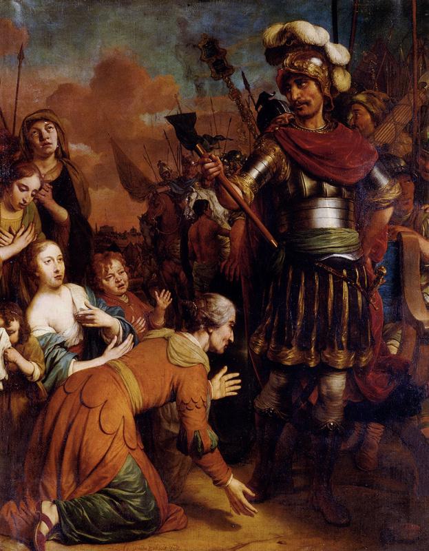 Гербранд ван ден Экхоут. Волюмния призывает с сыном Кориоланом пощадить Рим