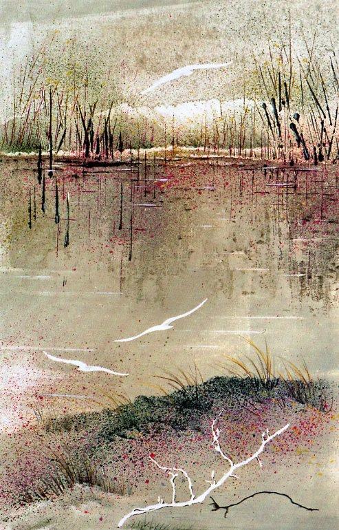 Жаннин Бурре. Поплавок на росе