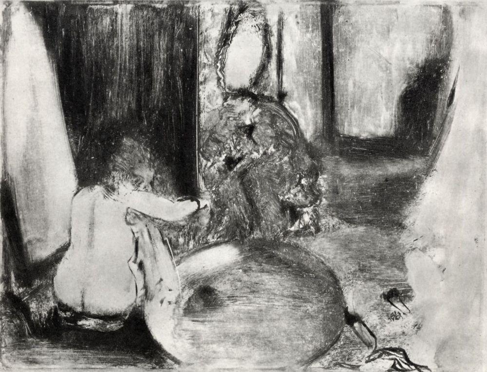 Edgar Degas. Tub for bathing