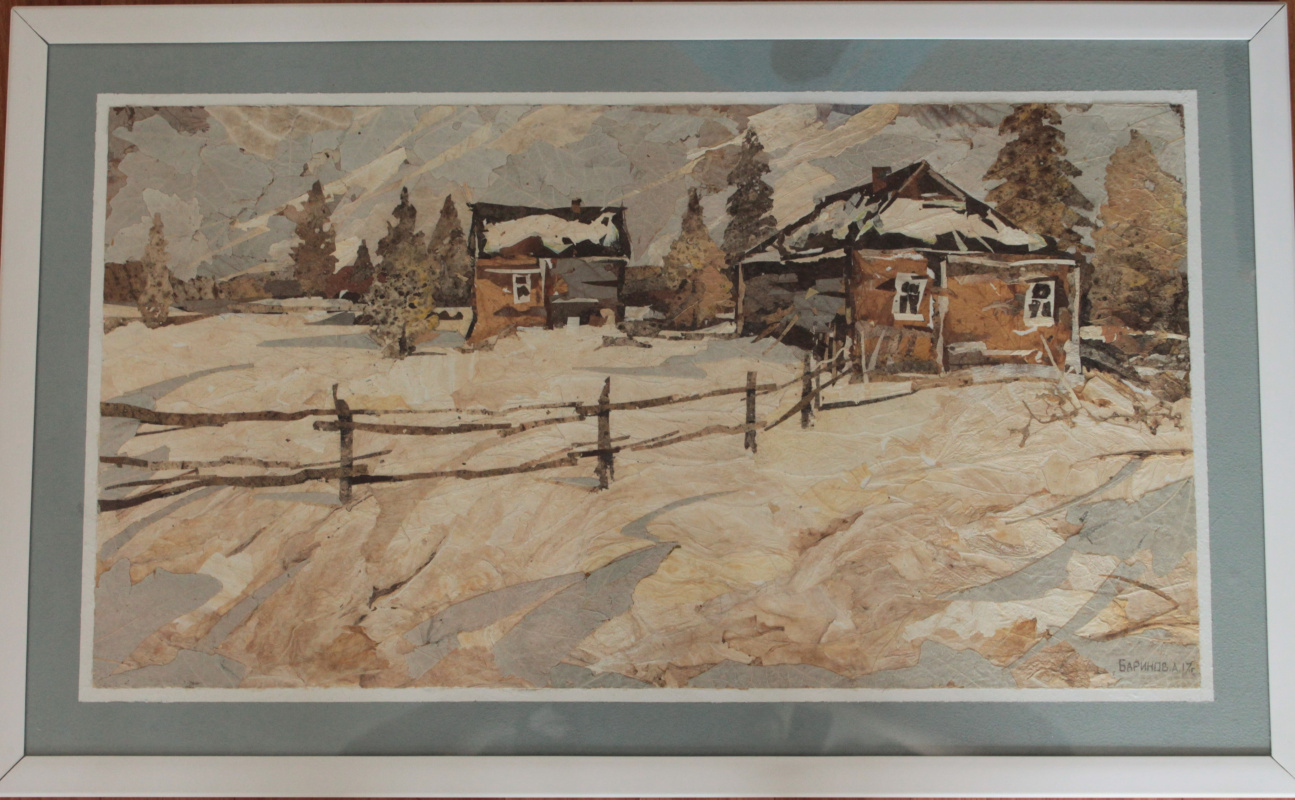 Unknown artist. Winter village