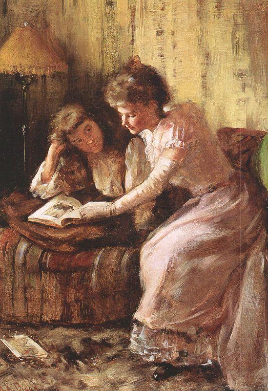 Диксон. Женщина с дочкой