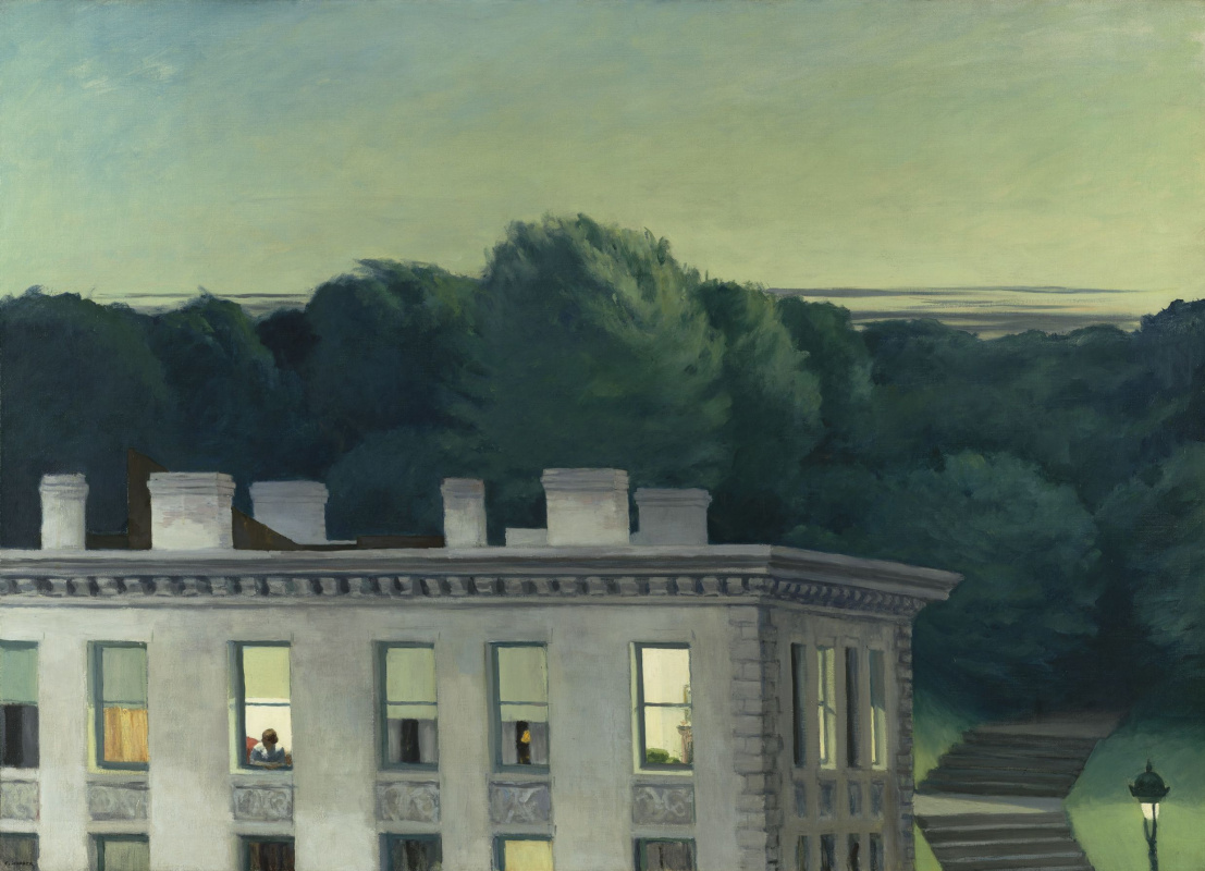Edward Hopper. The house at sunset