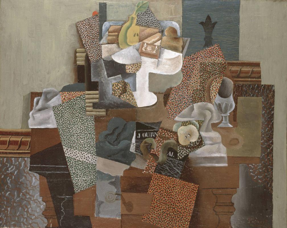 Пабло Пикассо. Натюрморт с компотом и стаканом