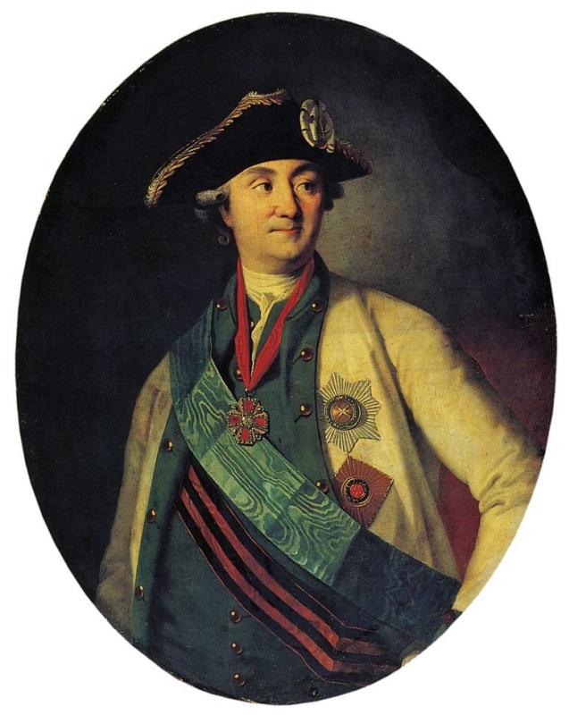 Карл Людвиг Иоганн Христинек. Портрет графа А. Г. Орлова-Чесменского