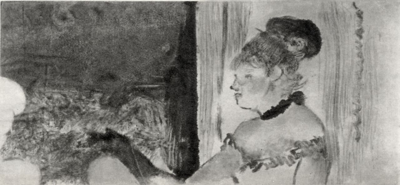 Edgar Degas. Concert in the music hall