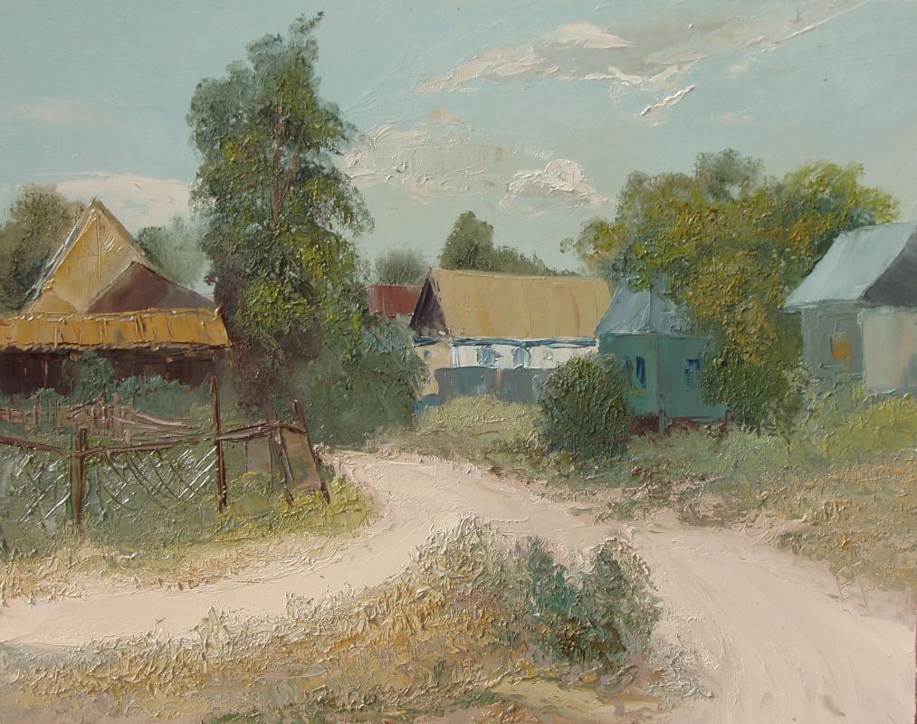 Elena Valyavina. Village street