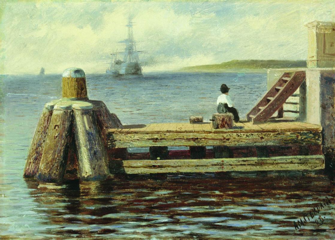 Alexey Petrovich Bogolyubov. Amsterdam pier.