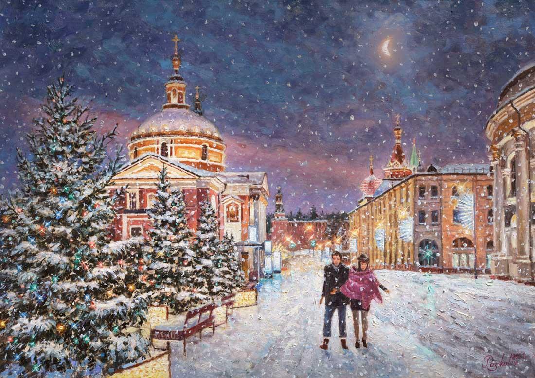 Igor Razzhivin. Snow fairy tale in the city