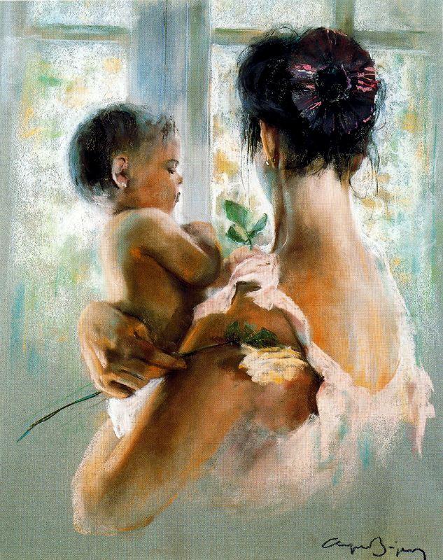 Каэтано де Аркер Буигас. Мать с ребенком и цветком