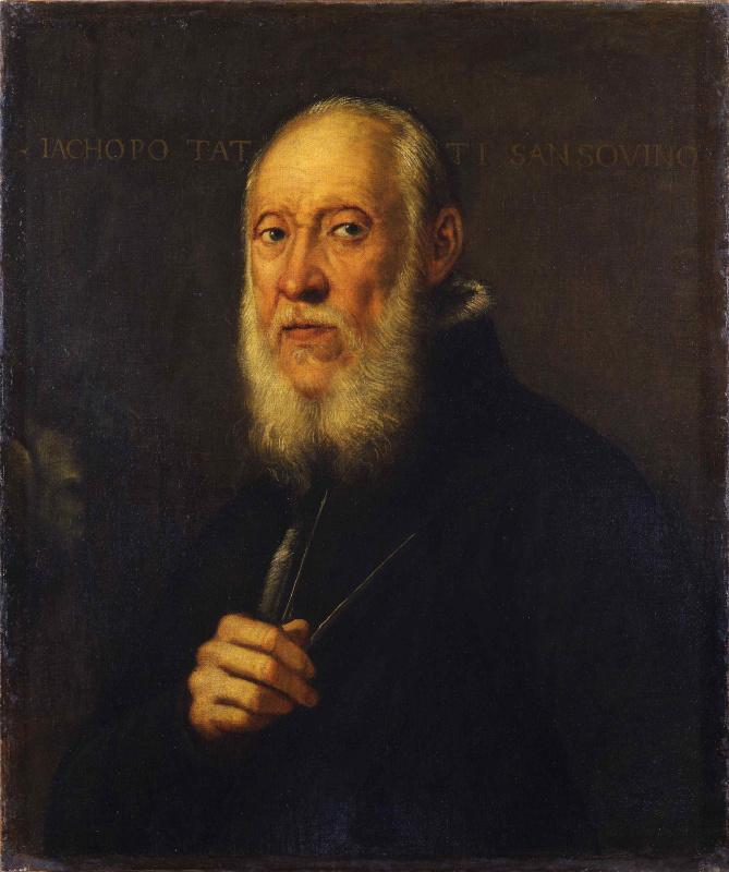 Jacopo (Robusti) Tintoretto. Portrait of the sculptor Jacopo Sansovino