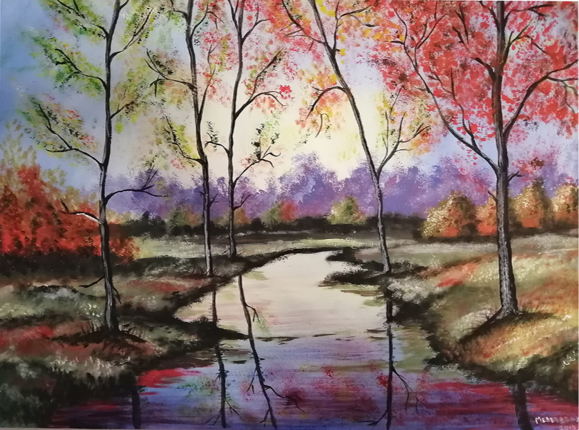 REGINA Dmitrievna MEDVEDEVA. Landscape. Early autumn