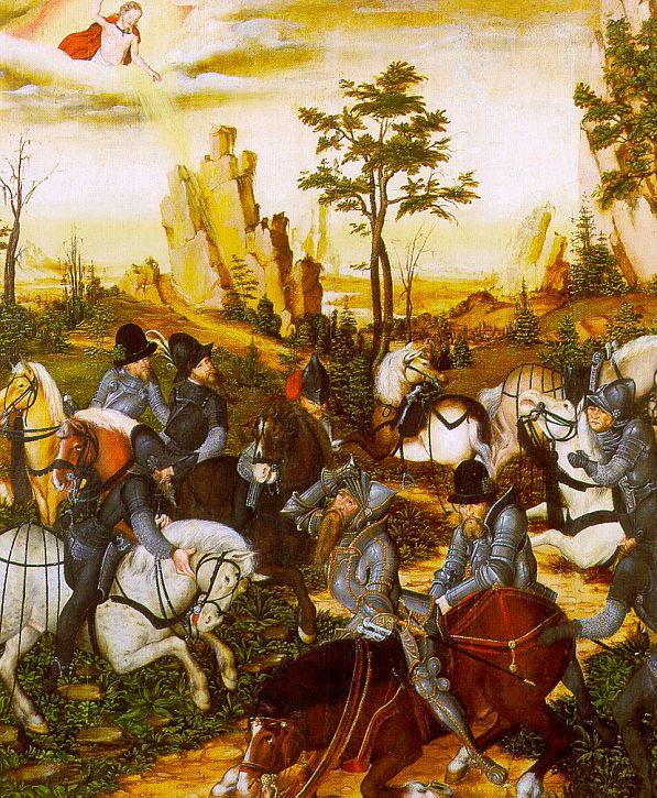 Lucas the Younger Cranach. The phenomenon riders