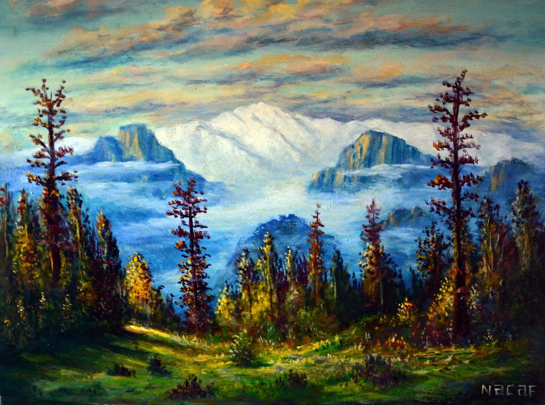 Наджаф Мамедали оглы Мамедов. Горный пейзаж