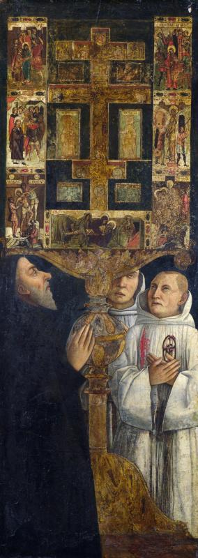 Джентиле Беллини. Кардинал Бессарион в молитве у реликвария