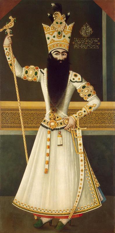 Михр-Али. Портрет стоящего Фатх-Али-шаха