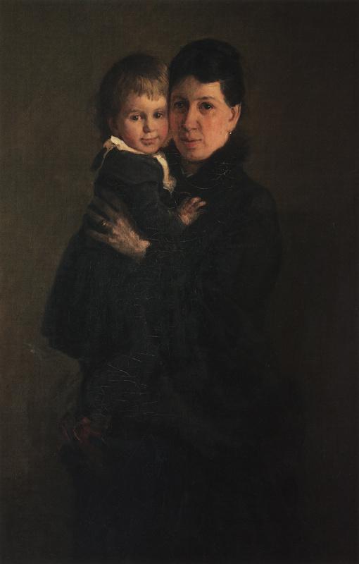 Николай Николаевич Ге. Портрет Софьи Андреевны Толстой, жены писателя, с дочерью Александрой
