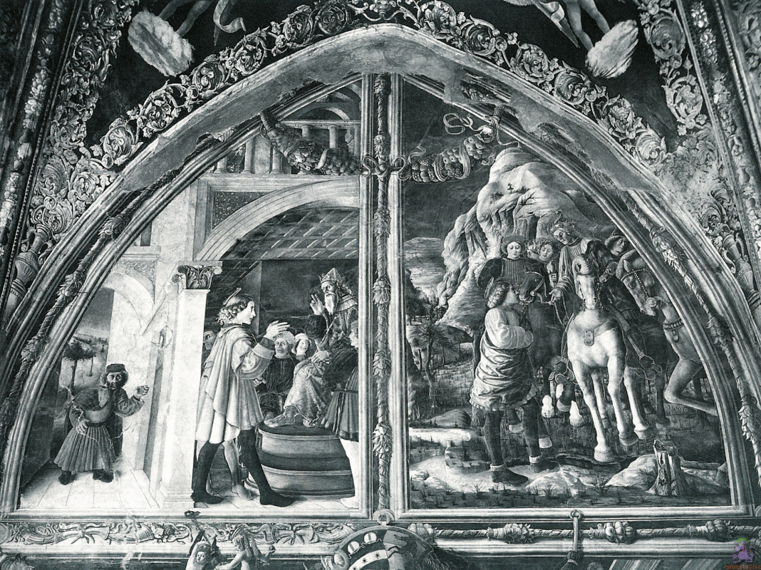 Andrea Mantegna. Scenes from the life of St. Christopher