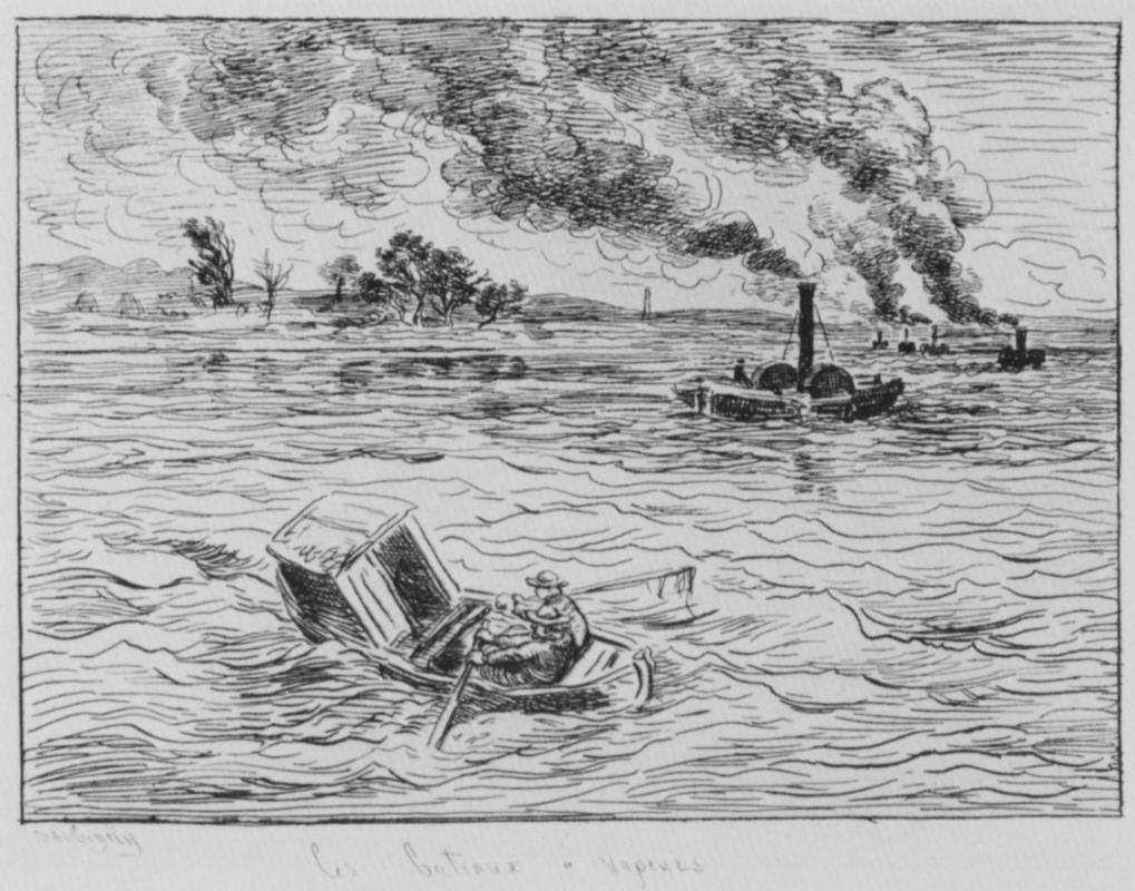 Charles-Francois Daubigny. Steamer