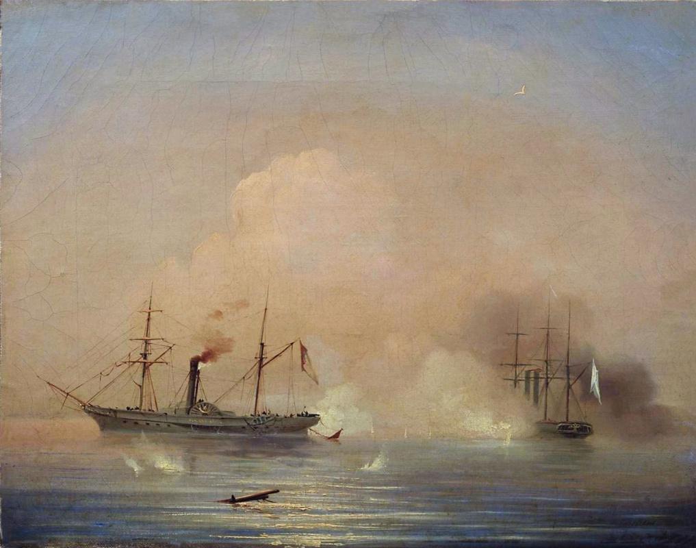 Ivan Aivazovsky. Sea battle