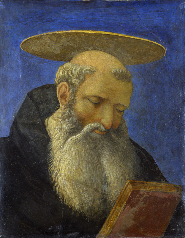 Domenico Veneziano. A portrait of the Saint (the Saint with a beard)