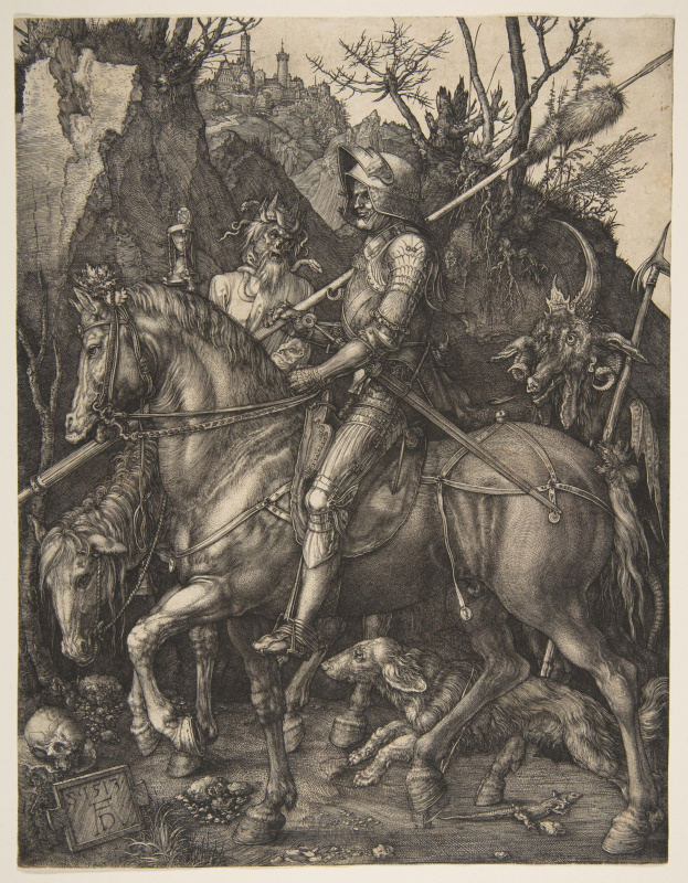 Albrecht Durer. The knight, Death and the Devil