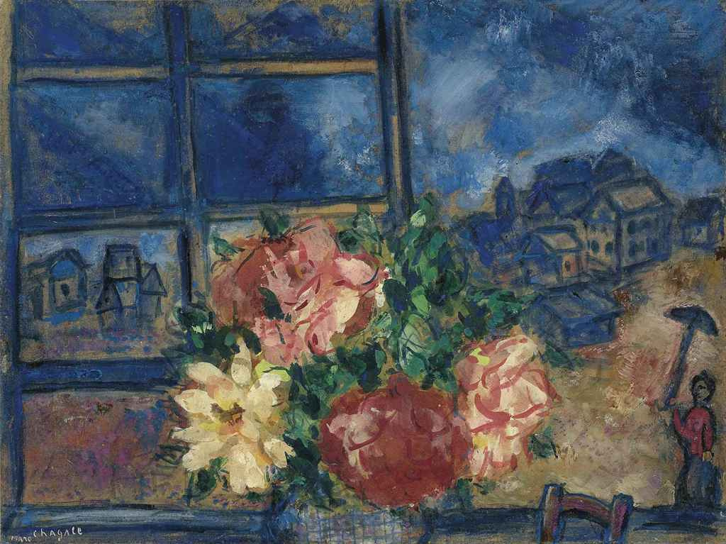 Marc Chagall. The view from the window