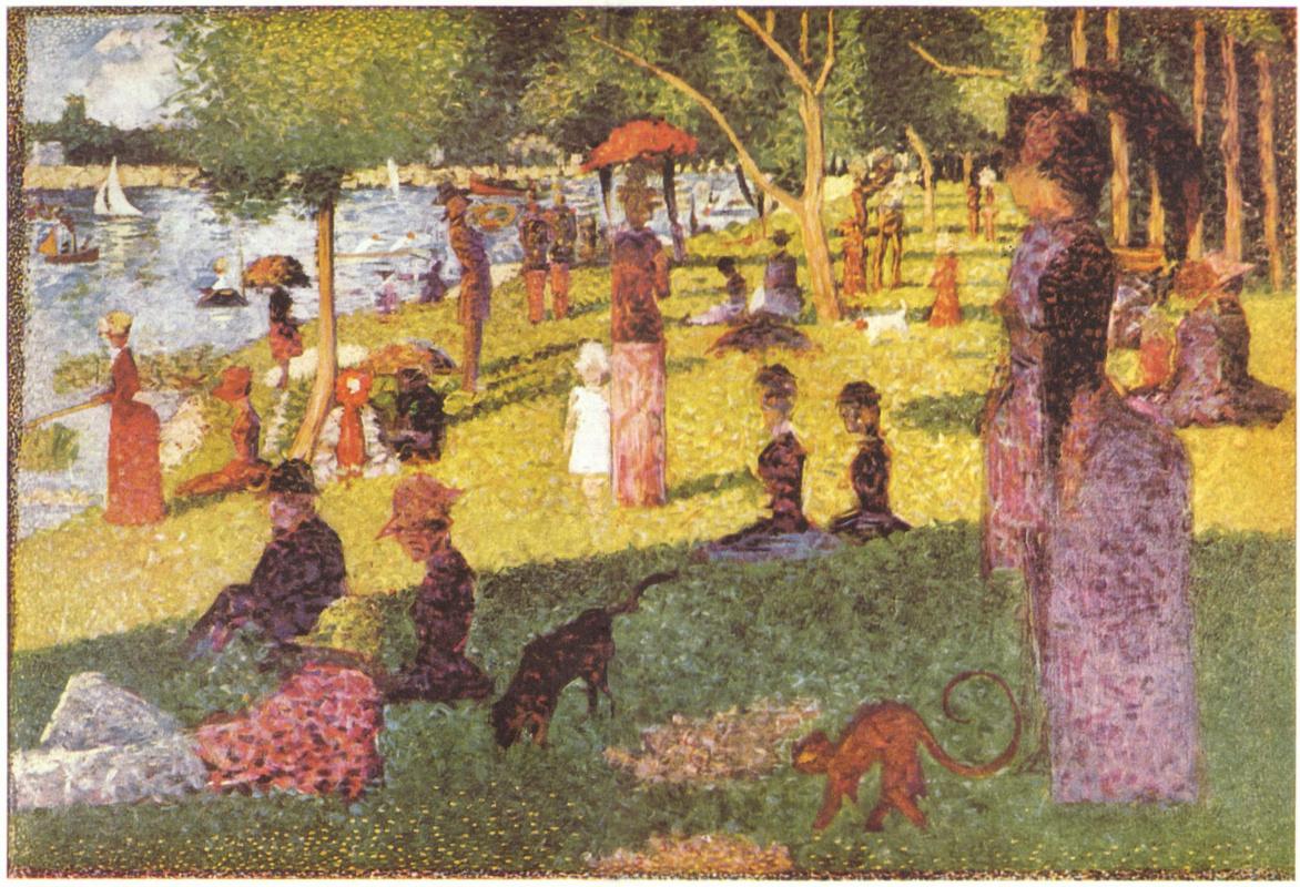 "Georges Seurat. Sketch of ""Sunday afternoon on the island of La Grande Jatte"""