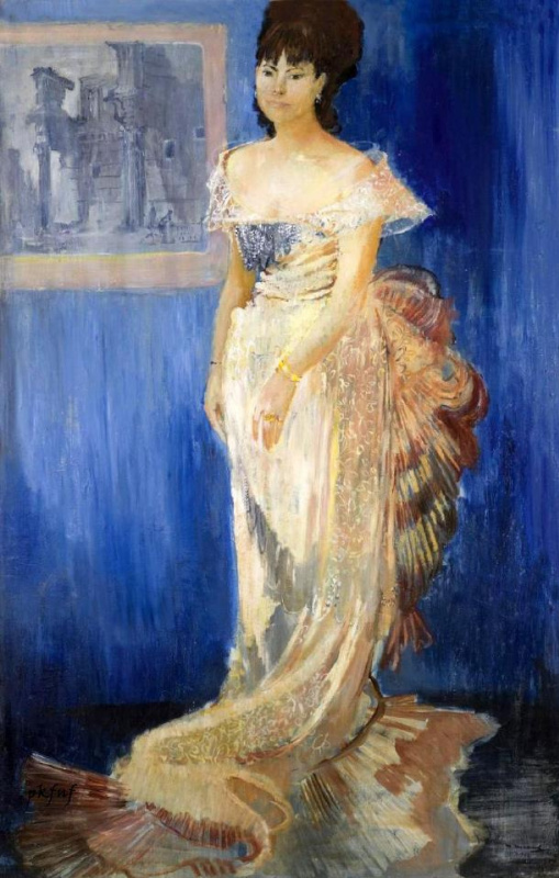 Yuri Ivanovich Pimenov. Portrait of Tatiana Samoilova in the role of Anna Karenina