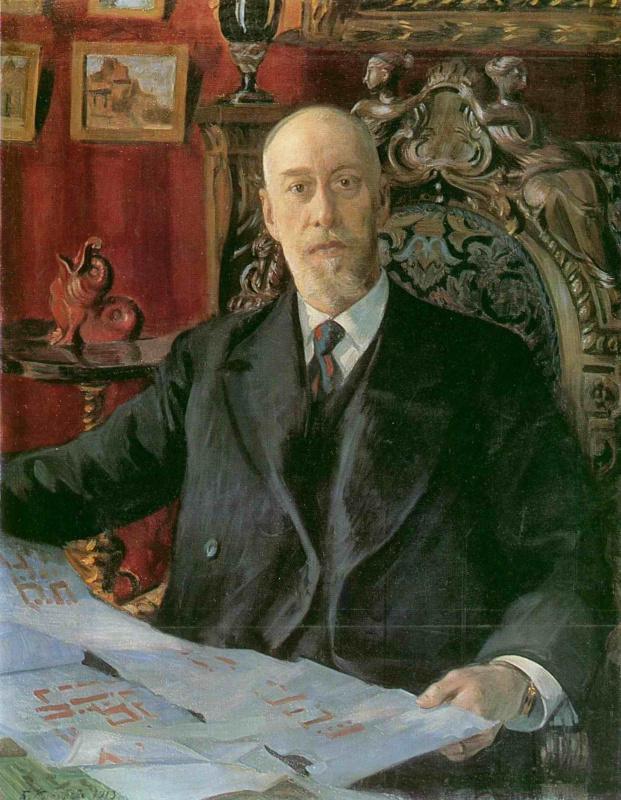 Борис Михайлович Кустодиев. Портрет Н. К. фон Мекка