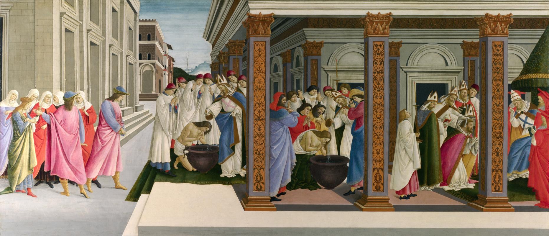 Сандро Боттичелли. Четыре сцены из ранней жизни святого Зиновия