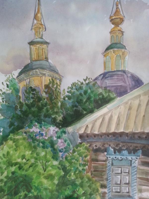 Настя Шарова. Вид на Ильинскую церковь