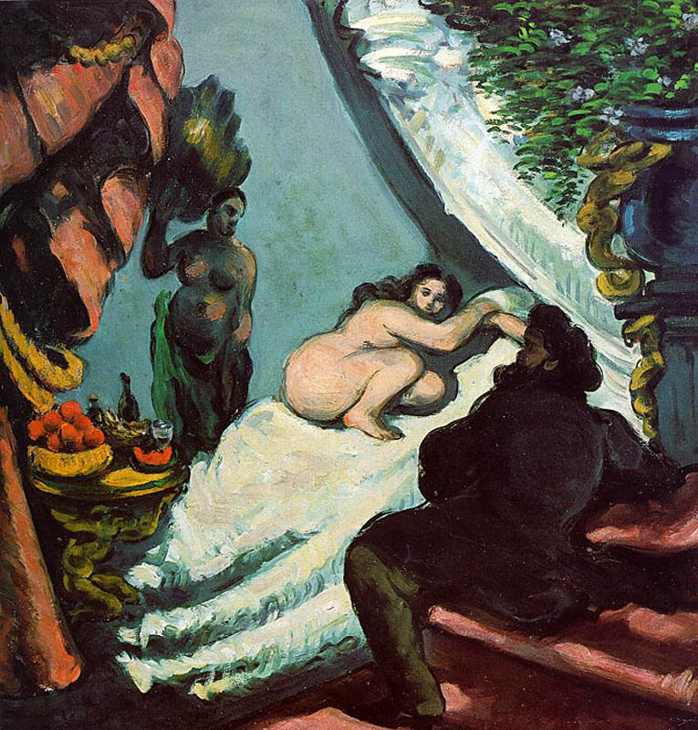 Paul Cezanne. Modern Olympia