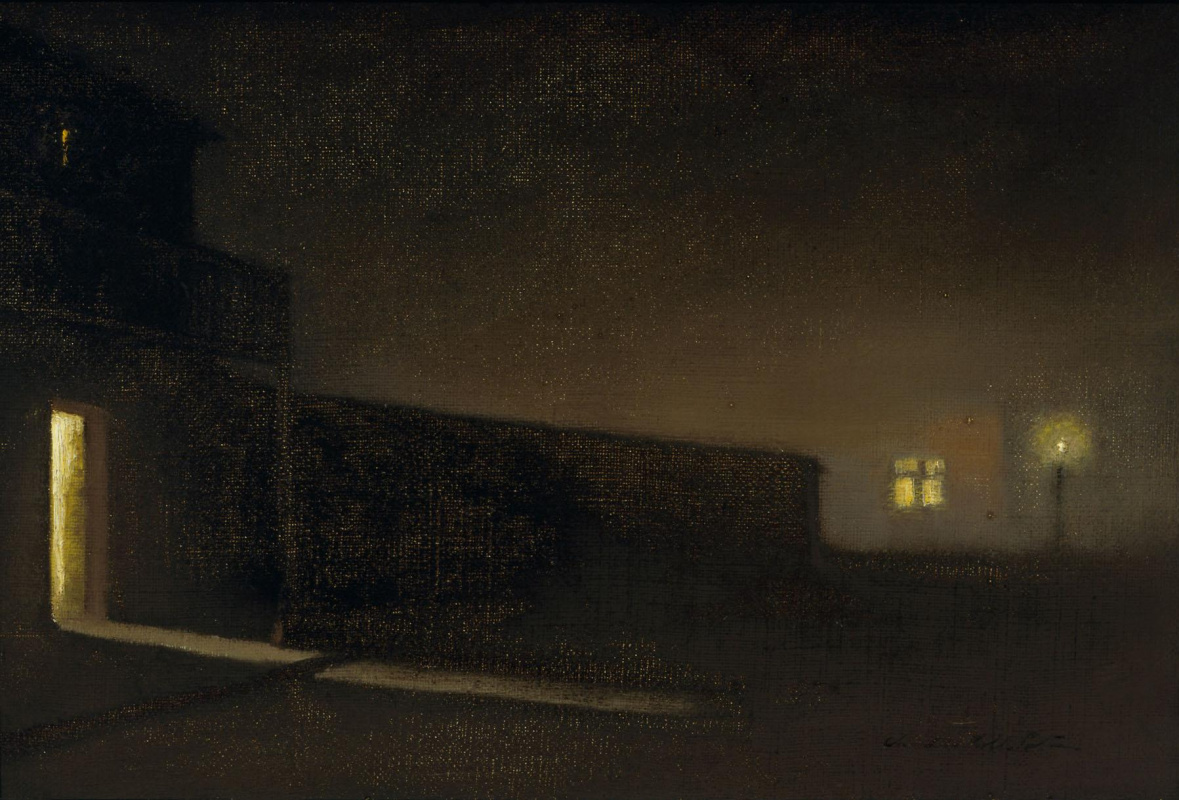 Charles Rollo Peters. Nocturne. Street