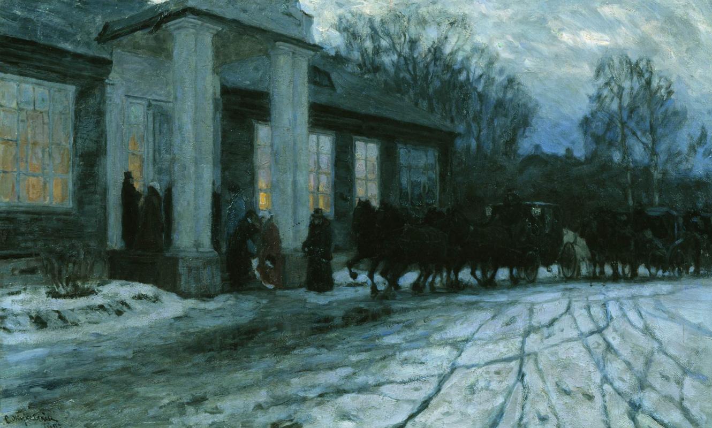 Stanislav Yulianovich Zhukovsky. Crossing at dawn