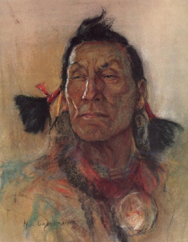 Индейский портрет 64