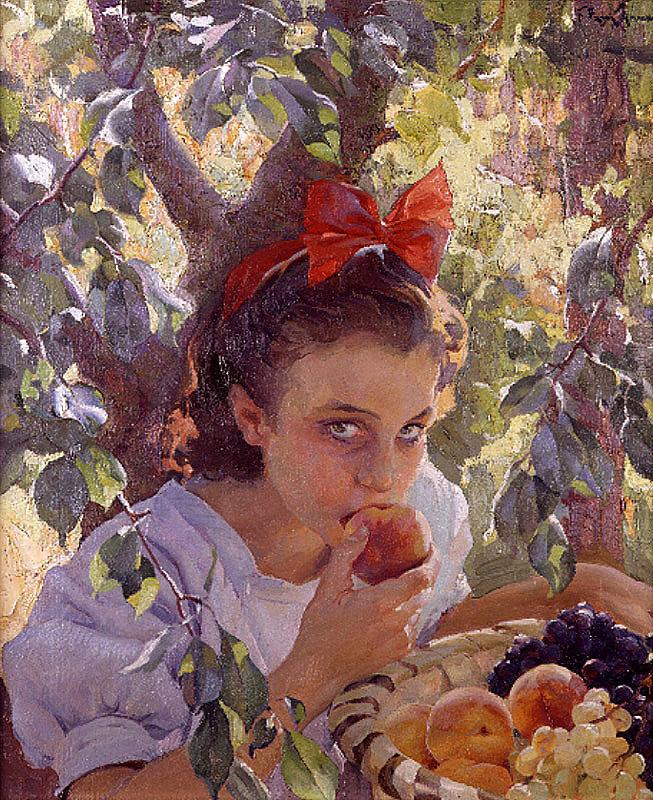 Франциско Понс Арно. Поедание фруктов