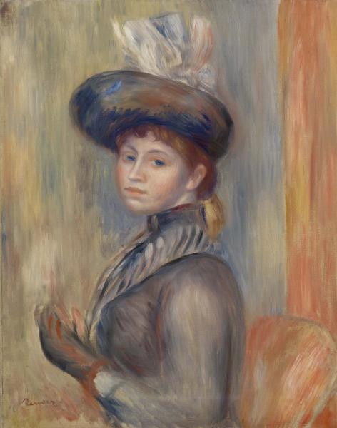 Pierre-Auguste Renoir. Girl in gray-blue