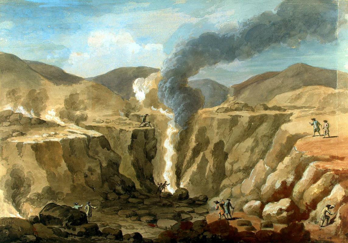 Шарль-Луи Клериссо. Вид кратера вулкана Везувий