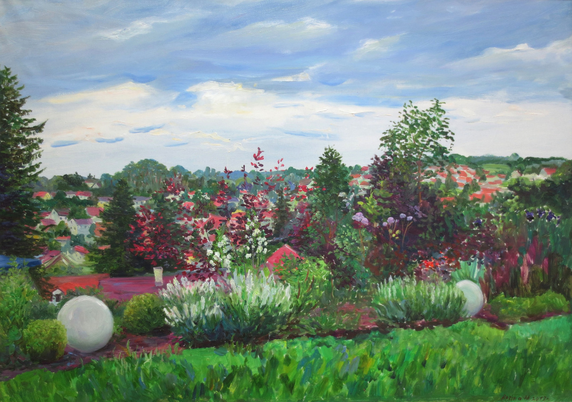 Marina Dmitrievna Razin. Germany. Panorama of Oxenhausen