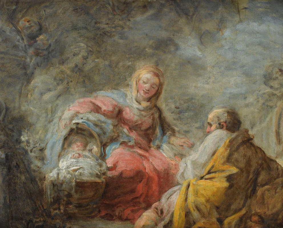Jean-Honore Fragonard. Rest on the way to Egypt