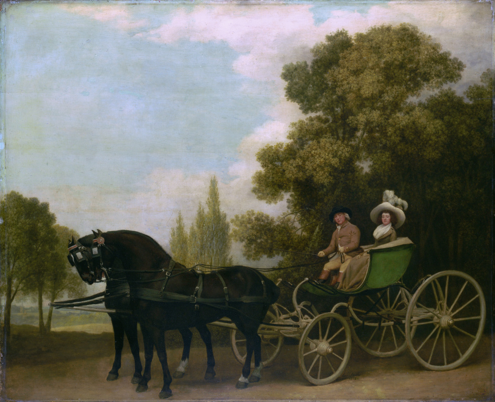 George Stubbs. A lady and gentleman in a Phaeton