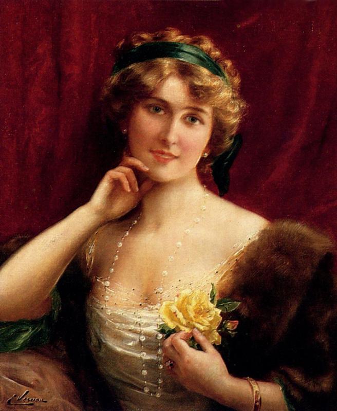 Emile Vernon. Female portrait