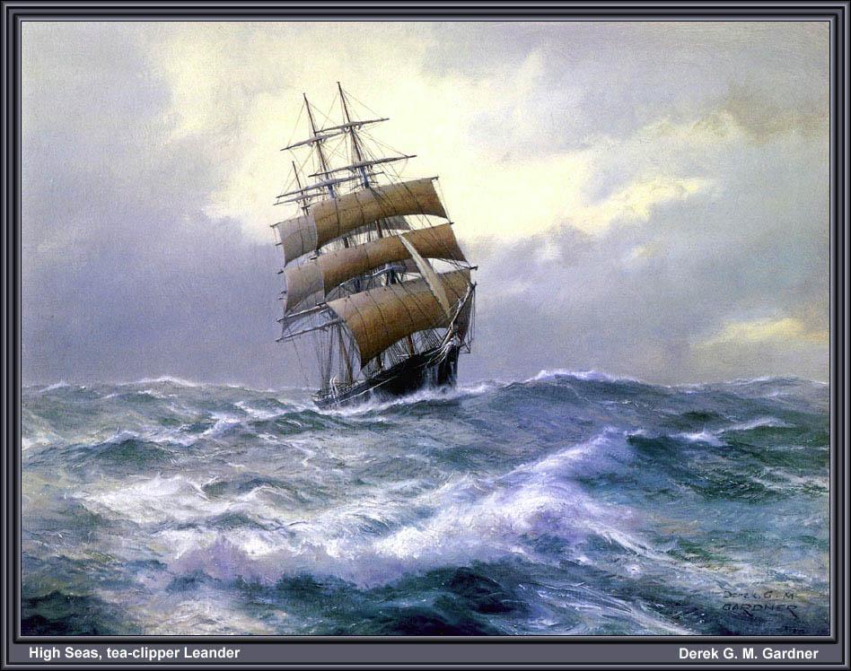 Дерек Гарднер. Бушующее море