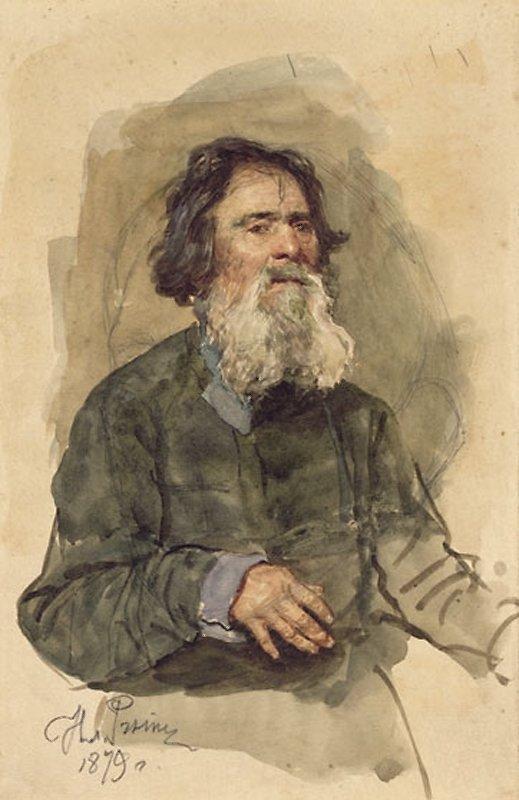 Илья Ефимович Репин. Бородатый крестьянин