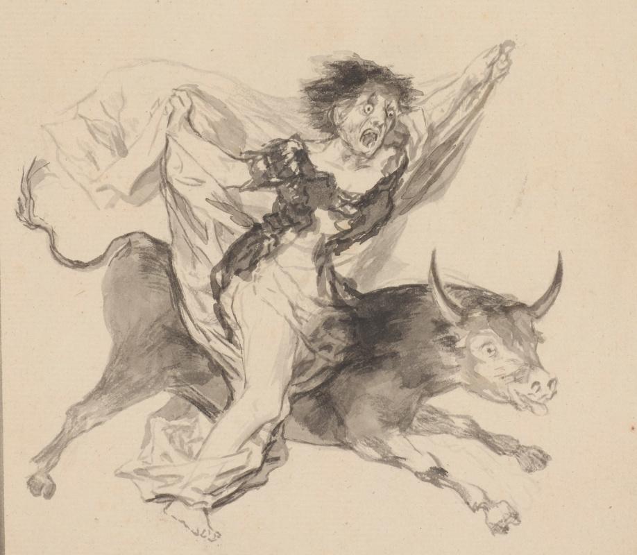 Франсиско Гойя. Ночной кошмар (фрагмент)