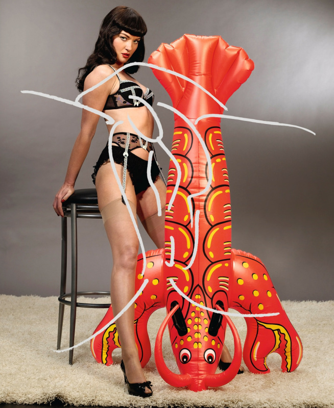 Jeff Koons. Girl with lobster