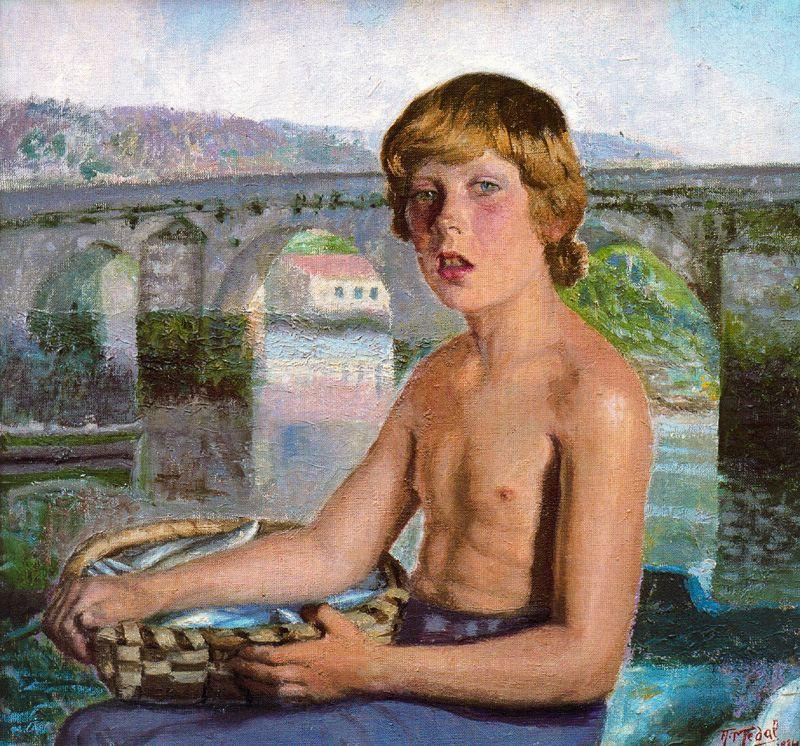 Антонио Медаль. Ребенок с мостом на заднем плане
