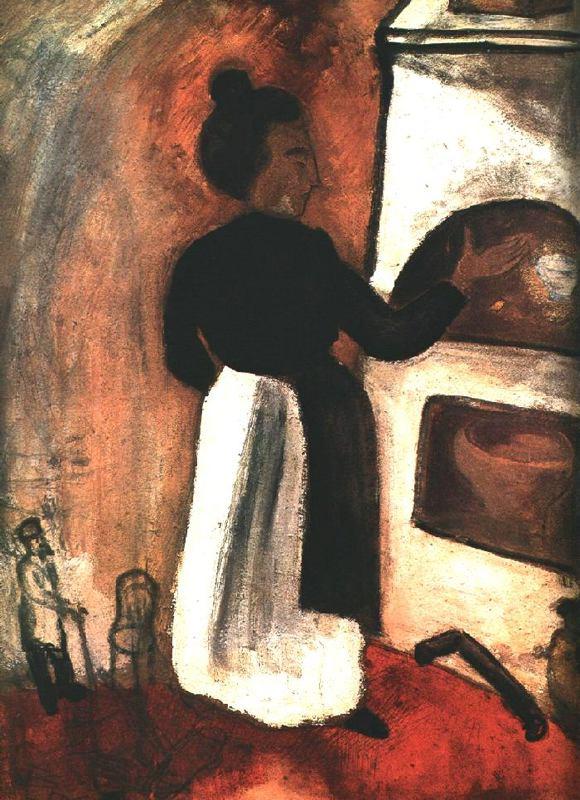 Марк Захарович Шагал. Мать у печи